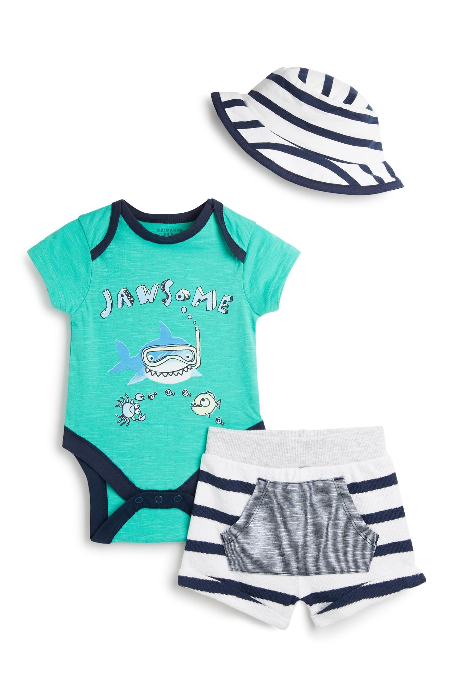 Outfit voor pasgeboren baby's, 3-delig