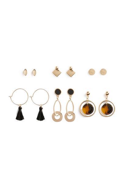 Mixed Earrings 6Pk