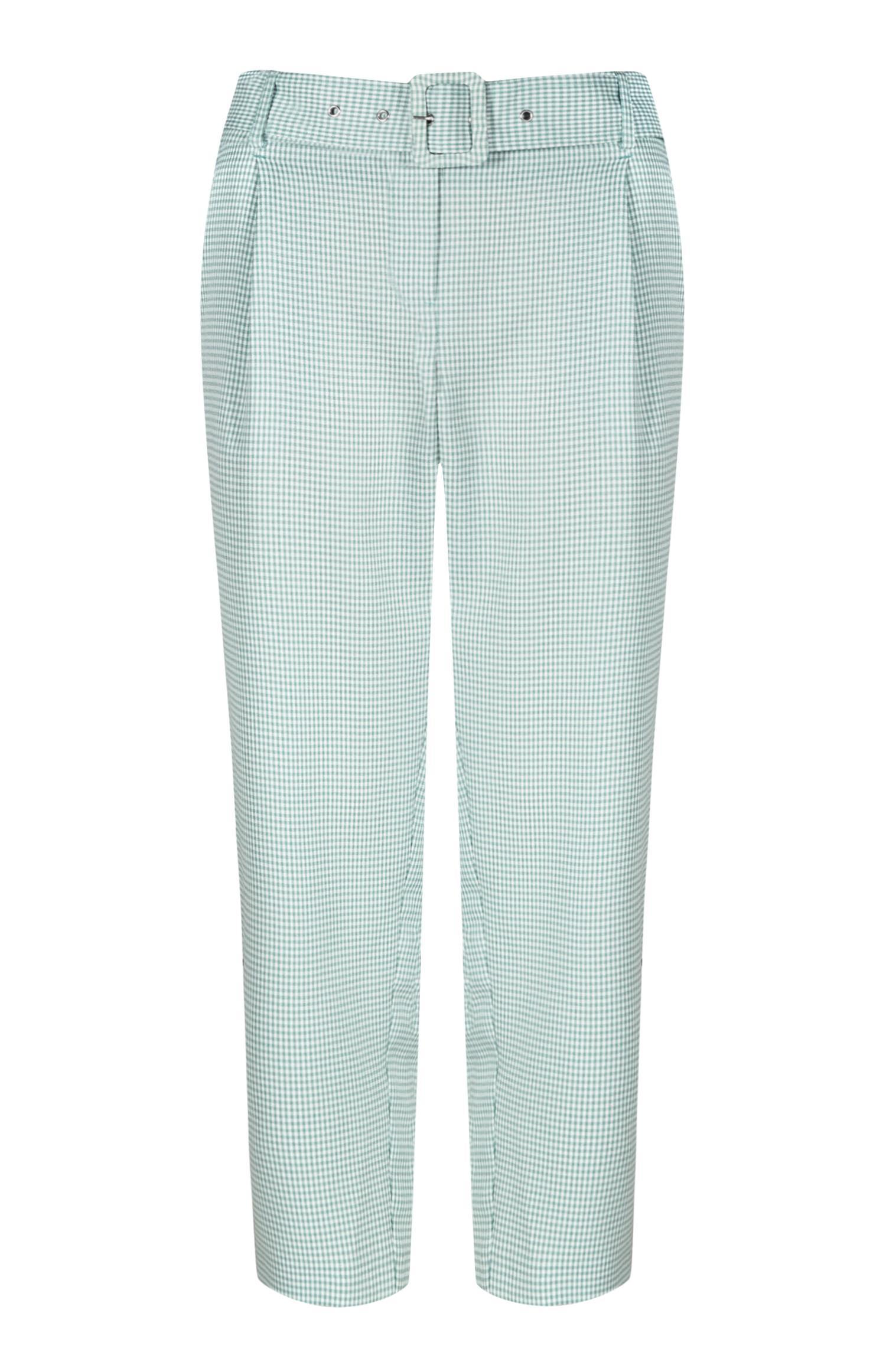 Pantaloni verdi con cintura