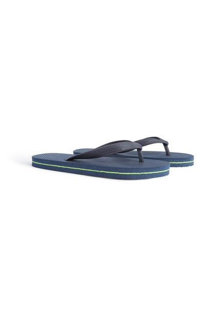 Older Boy Navy Flip Flop