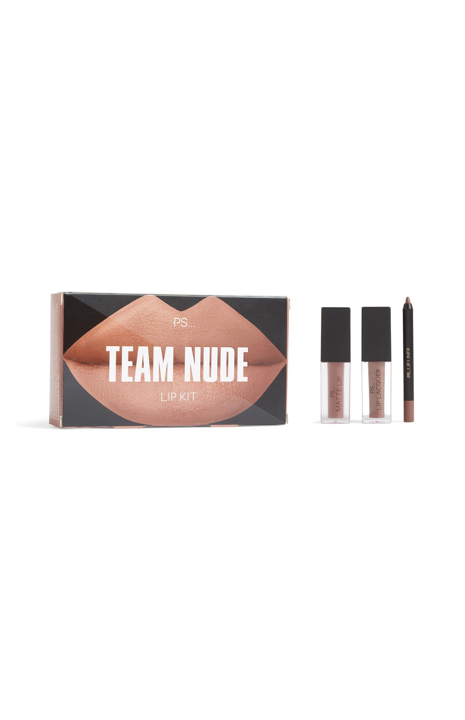 Lippenset Team Nude