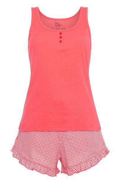 Red Gingham Pyjama Set