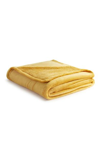 Yellow Soft Throw