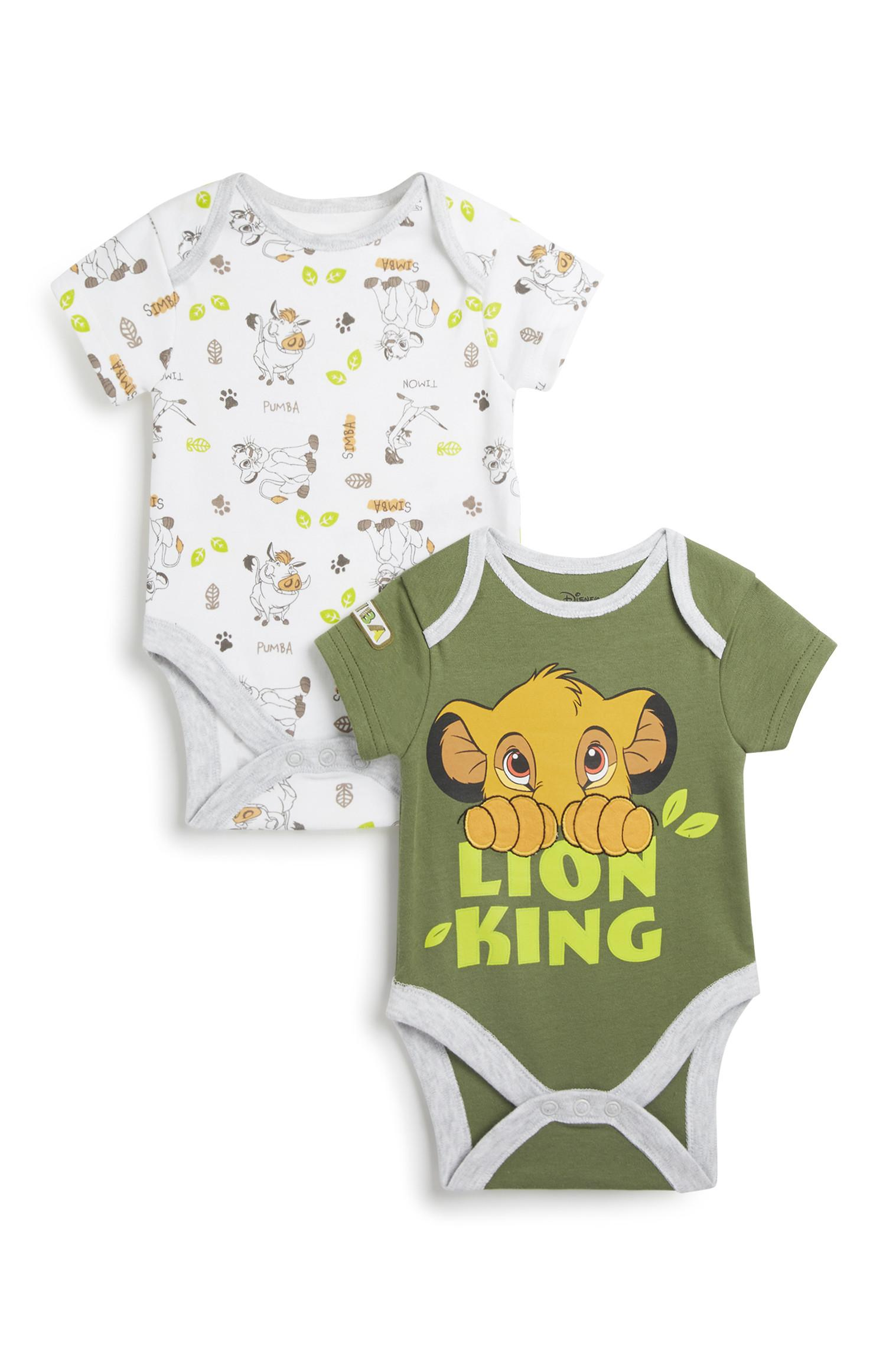 Newborn Lion King Bodysuit 2Pk
