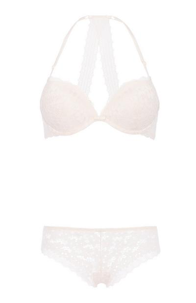 Broderie Bra And Brief Set