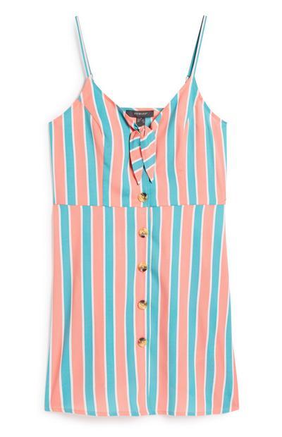 Stripe Button Dress