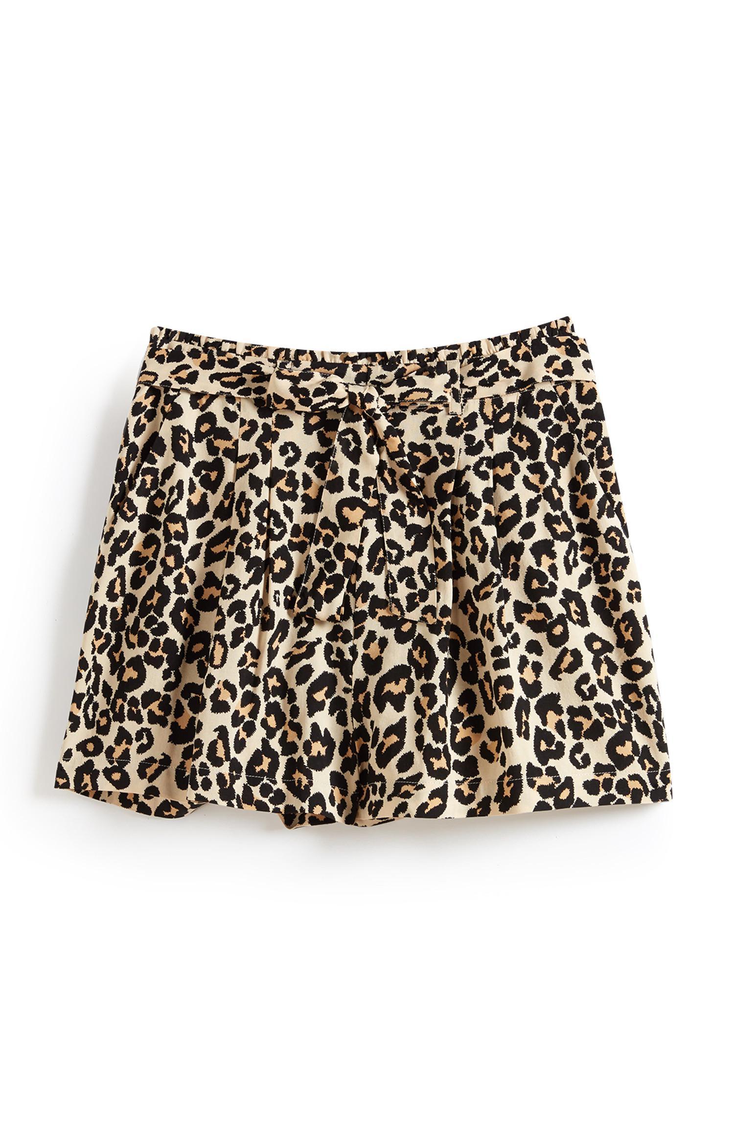 Minirock mit Leopardenmuster