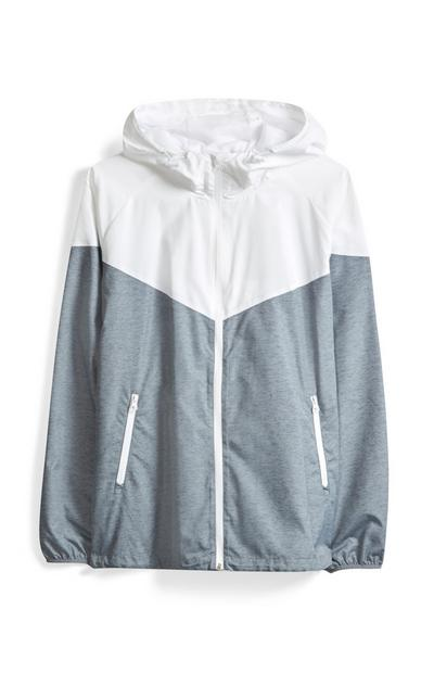 Grey And White Zip Jacket