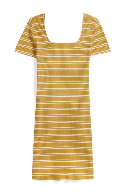 Mustard Stripe Dress