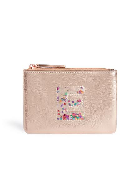 Sequin Initial Purse