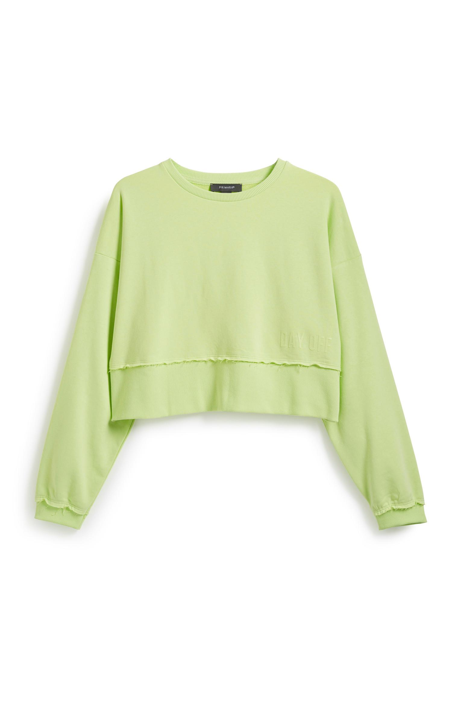 Neon Green Crop Sweater