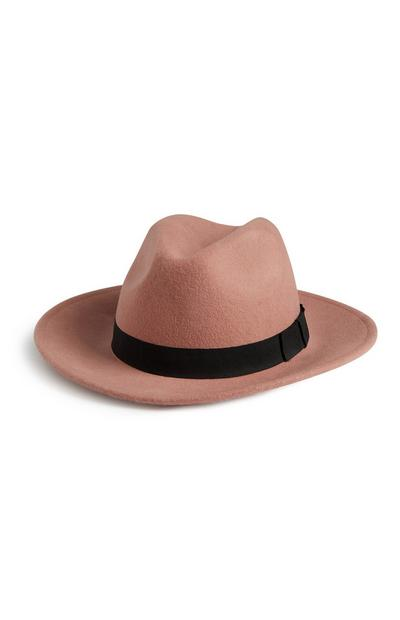 Blush Wool Fedora Hat