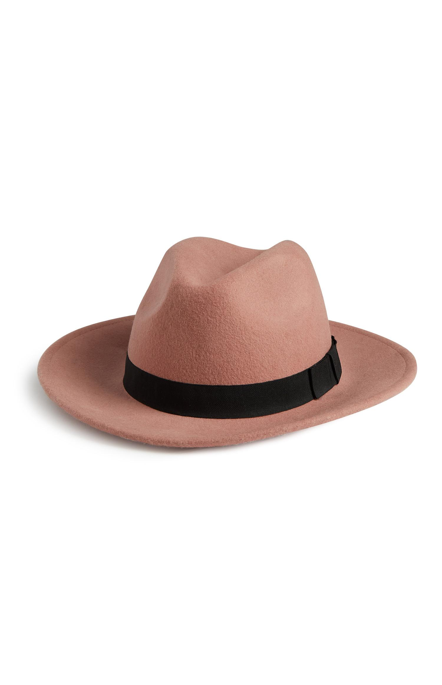 Blush Wool Fedora Hat
