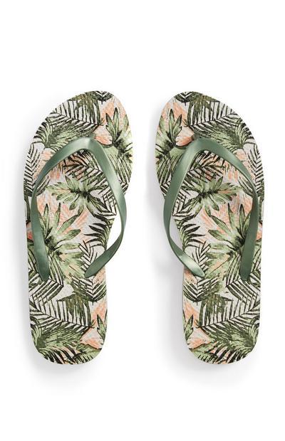 Flipflops mit Palmenprint