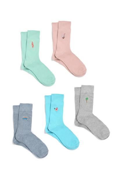 Colourful Socks 5Pk