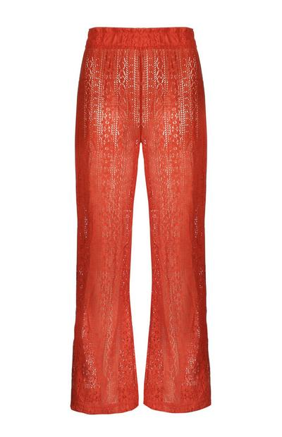 Lace Wide Leg Trouser