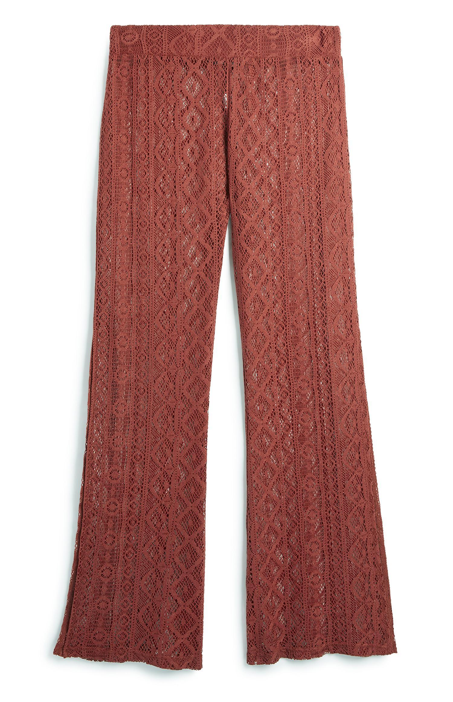 Terracotta Lace Trouser