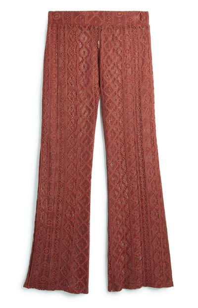 Terracotta Lace Trouser