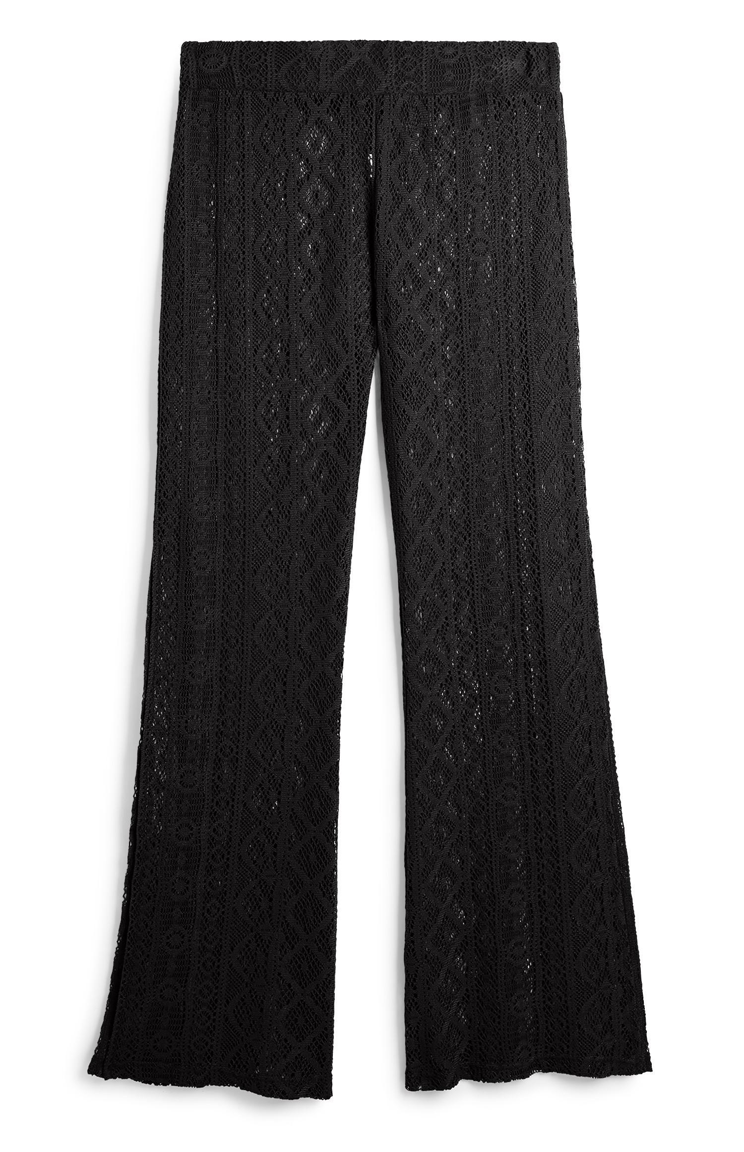 Schwarze Hose mit Spitze