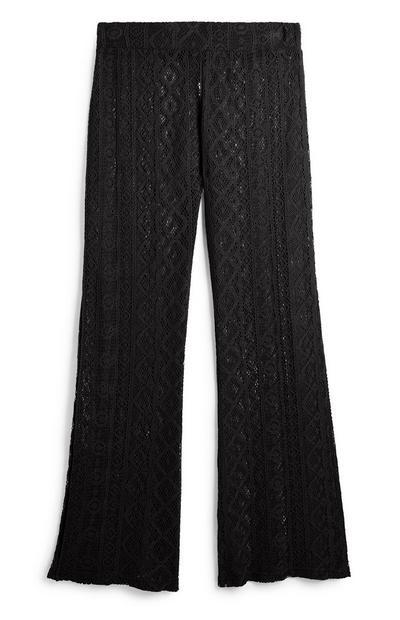 Black Lace Trouser