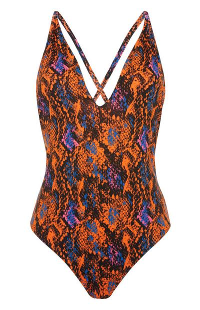 Orange Snake Swimsuit