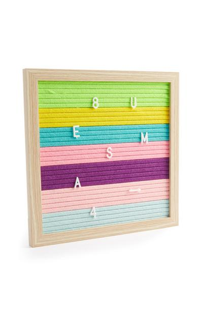 Rainbow Peg Board