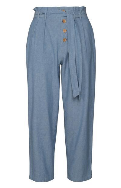 Blue Button Pants