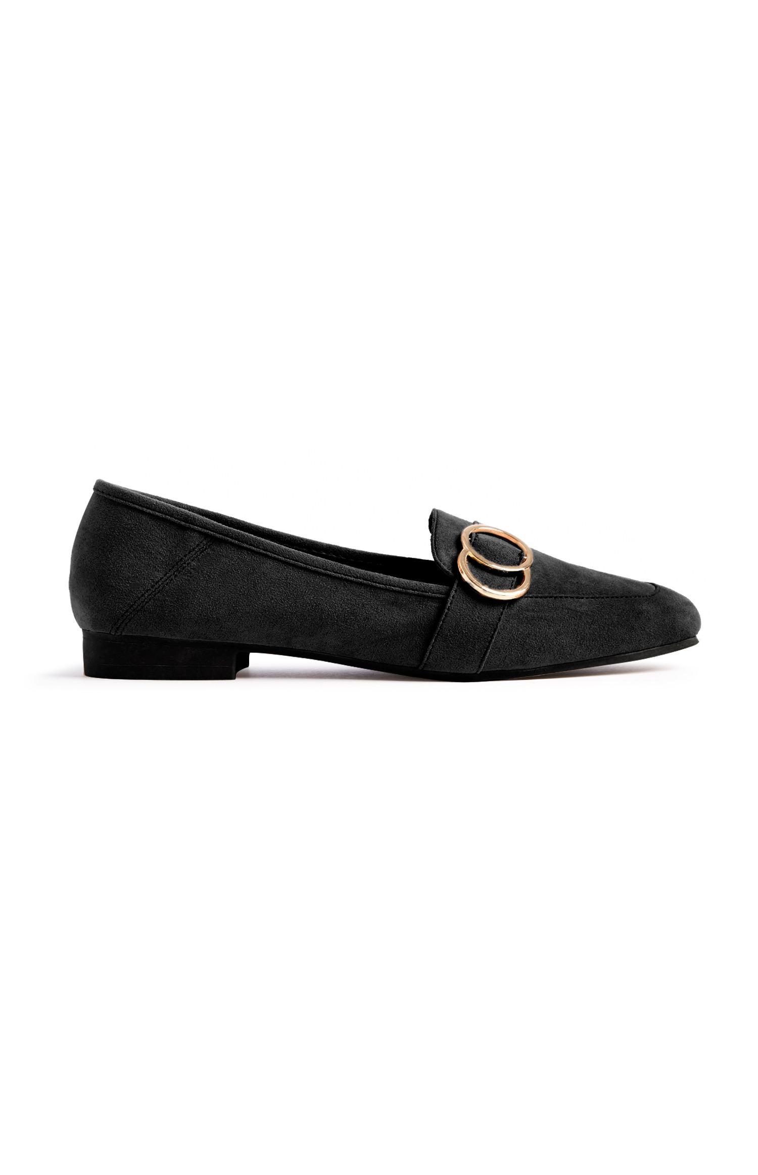 Black Buckle Loafer