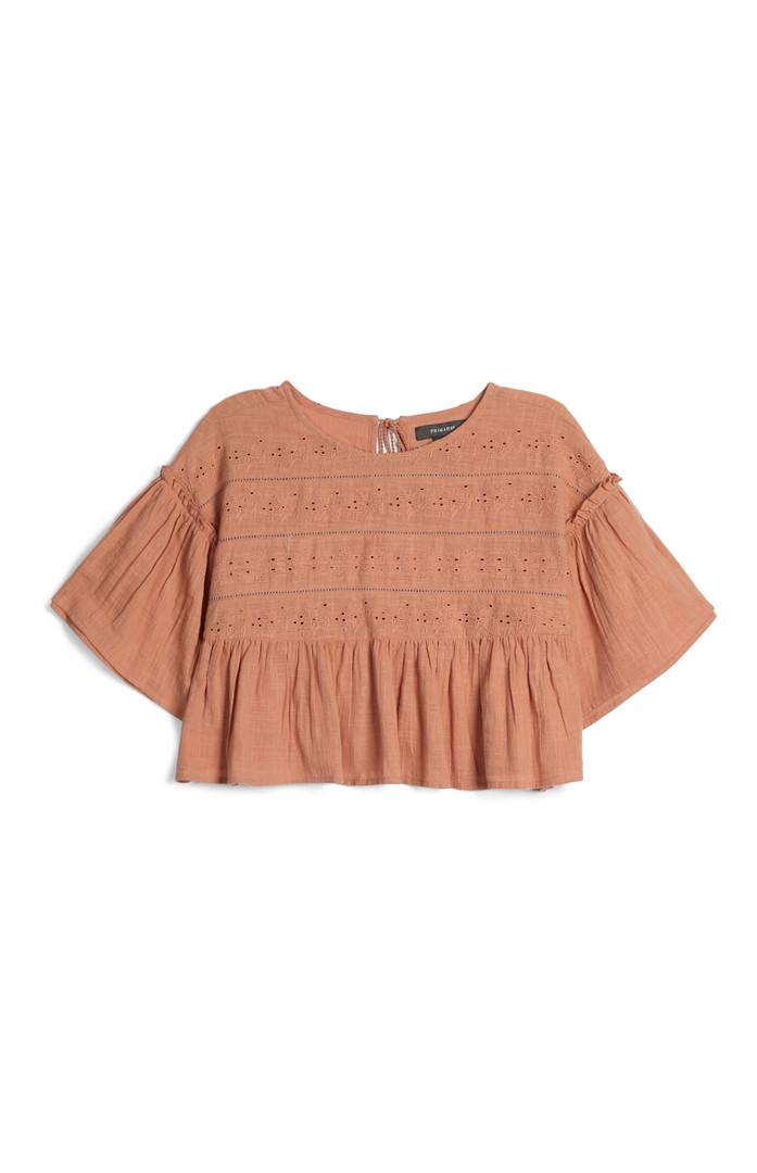 Blush Embroidered Crop Top