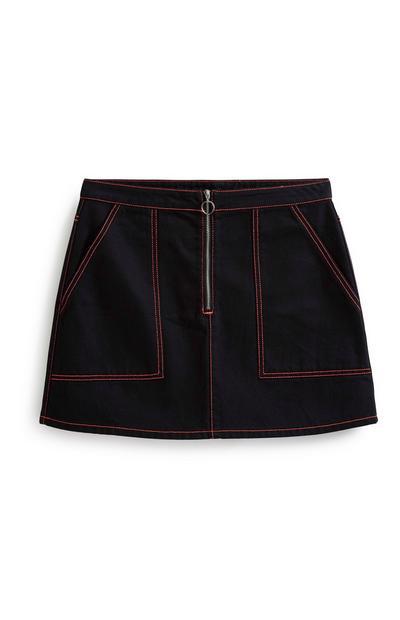 Neon Stitch Black Skirt
