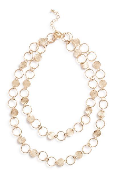 Halskette mit münzförmigen Gliedern