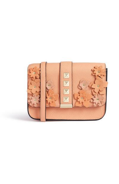 Coral Floral Bag