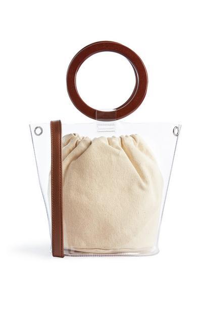 Clear Wooden Hoop Bag