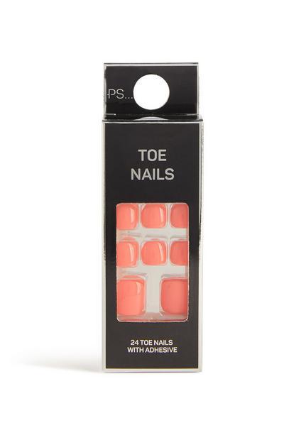 Neon False Toe Nails