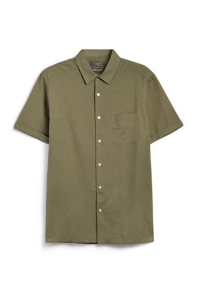 Khakifarbenes Leinenhemd