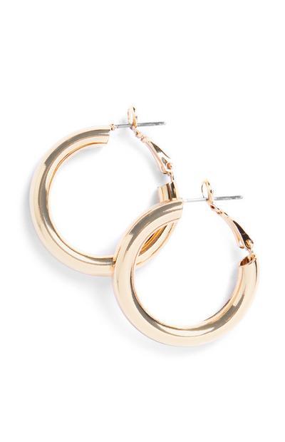 Mini Chunk Hoop Earrings