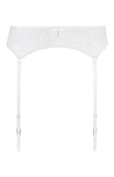 Ivory Diamante Suspender