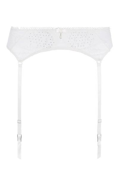Ivory Diamante Suspender