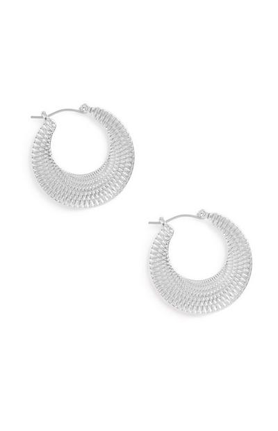 Texture Hoop Earrings