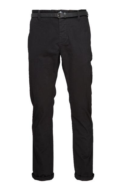 Black Belted Chinos