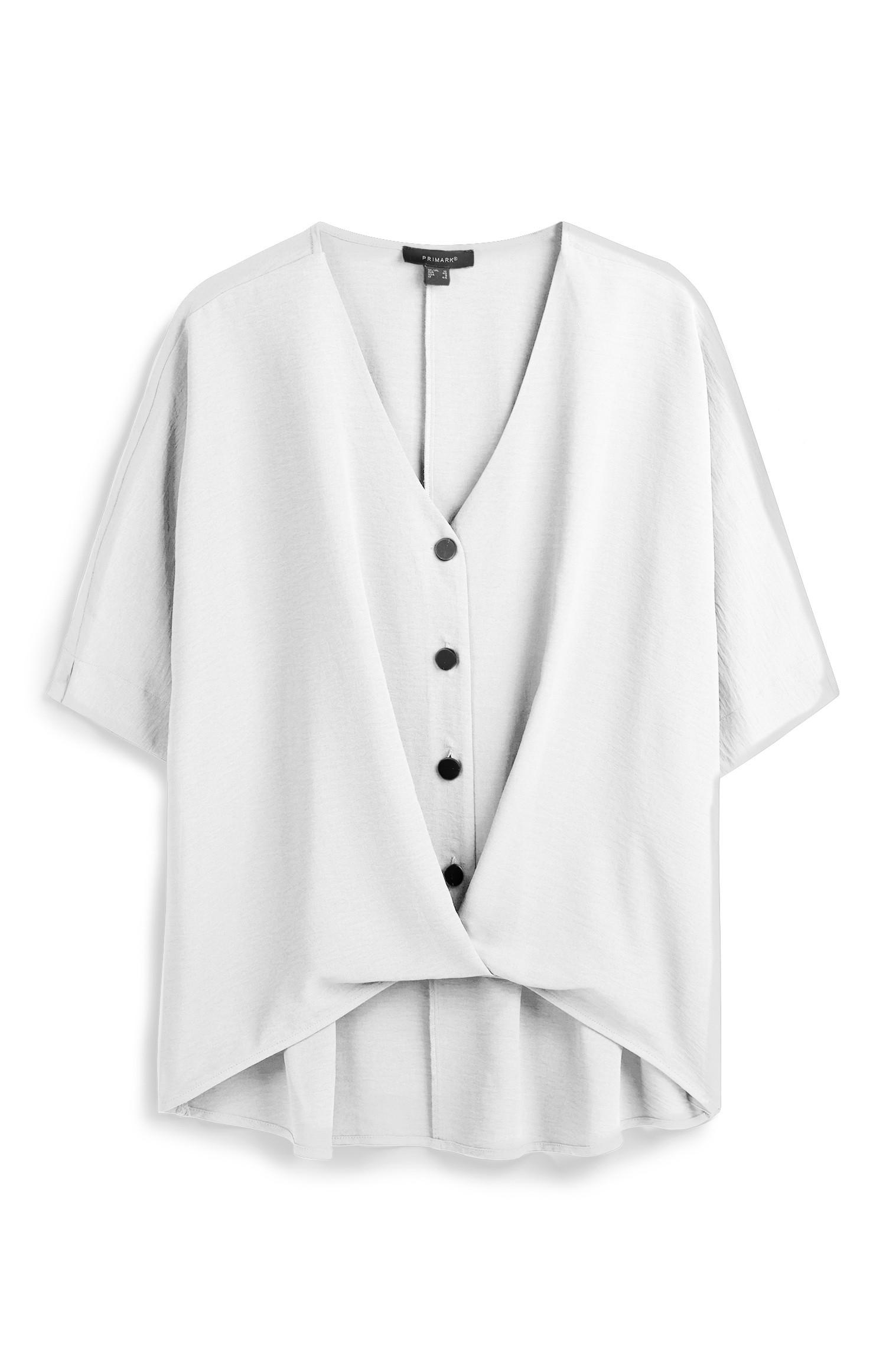 Ivory Twist Front Blouse