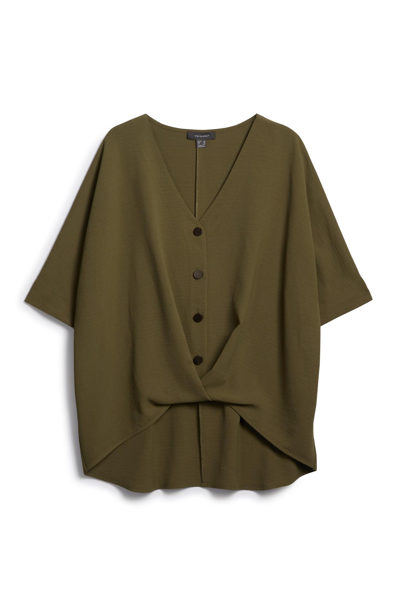 Khaki Pleat Shirt