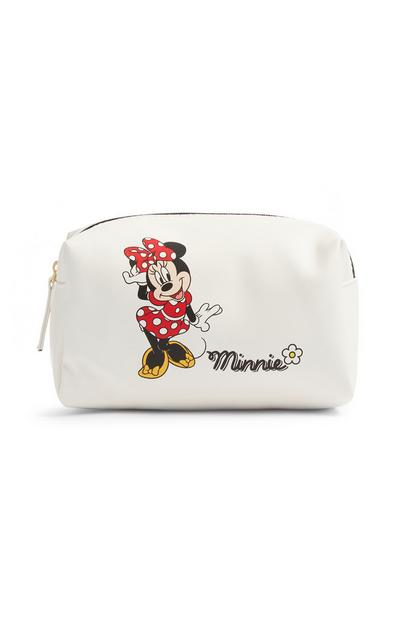 White Minnie Mouse Make Up Bag