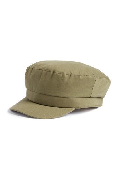 Khaki Baker Boy Cap