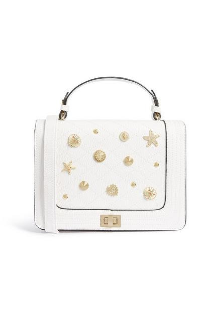 White Seashell Crossbody Bag