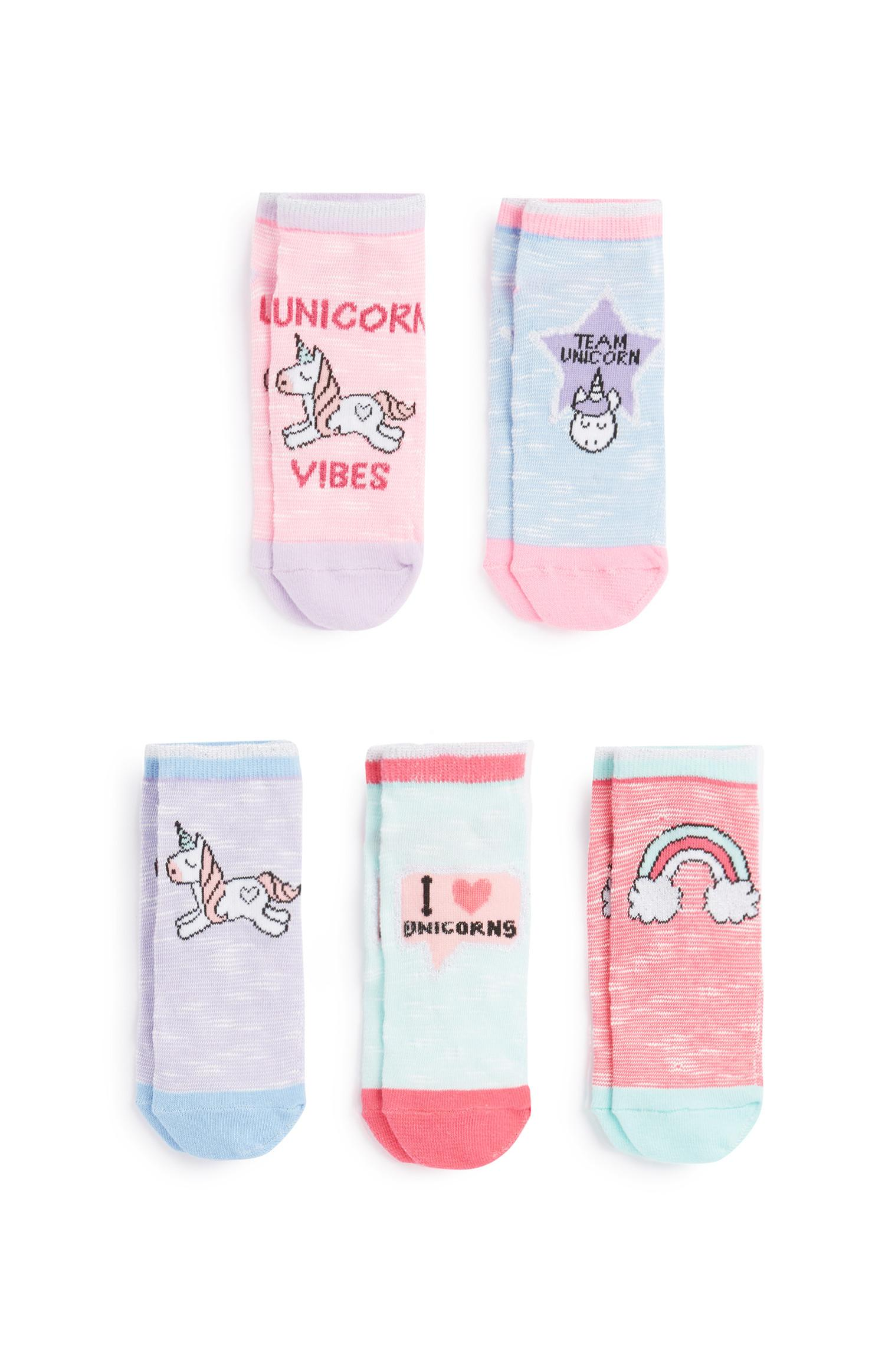 Unicorn Socks 5Pk