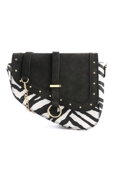 Zebra Print Saddle Bag
