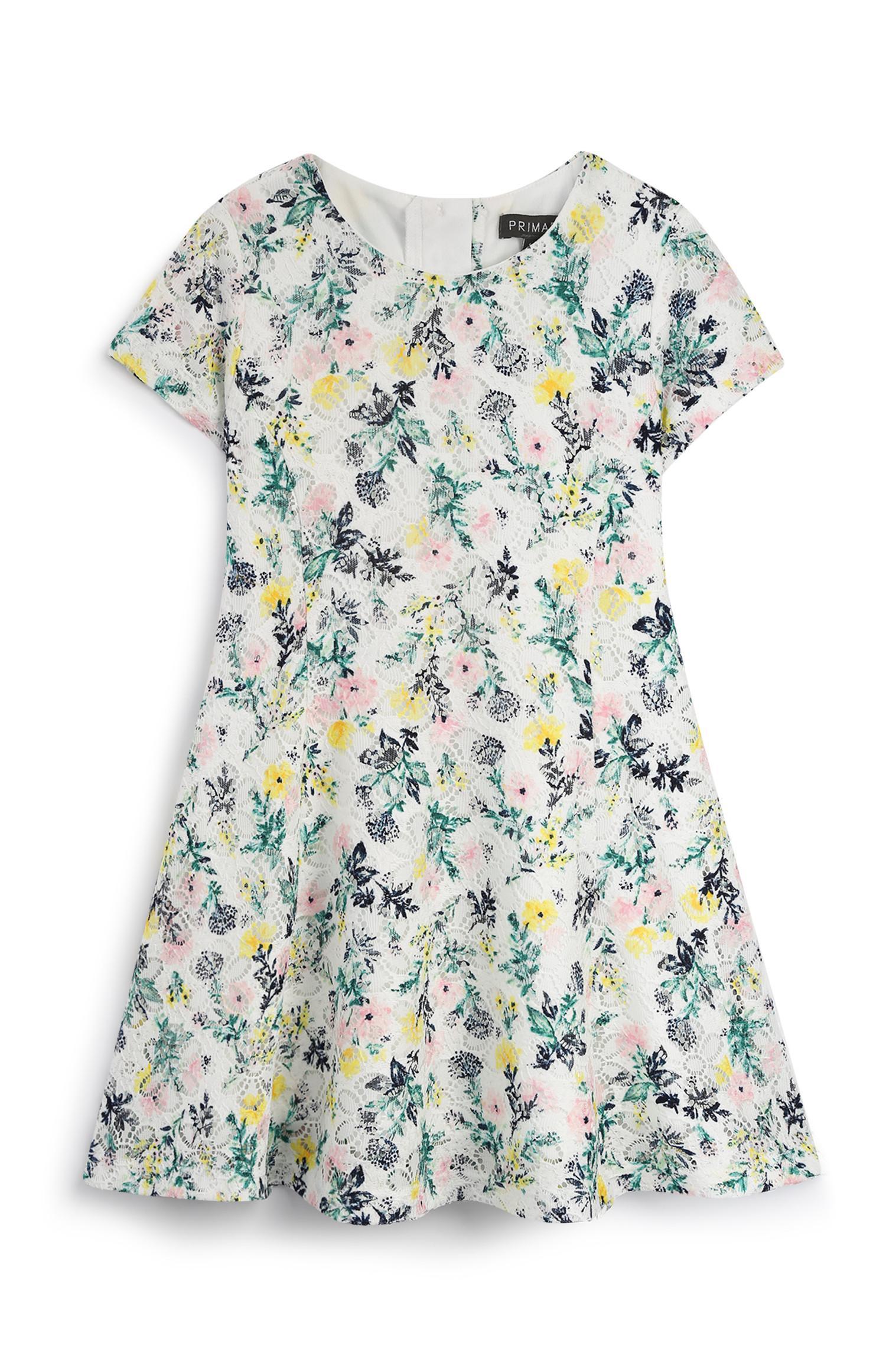 Vestido padrão floral bebé