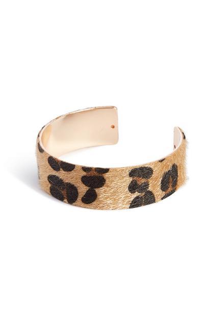 Armreif mit Leopardenmuster