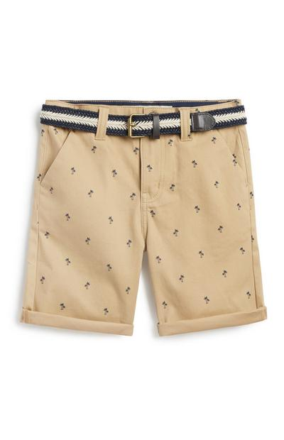 Older Boy Belted Chino Short